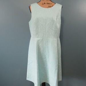 Talbots Aqua Embossed Shift Dress NWT
